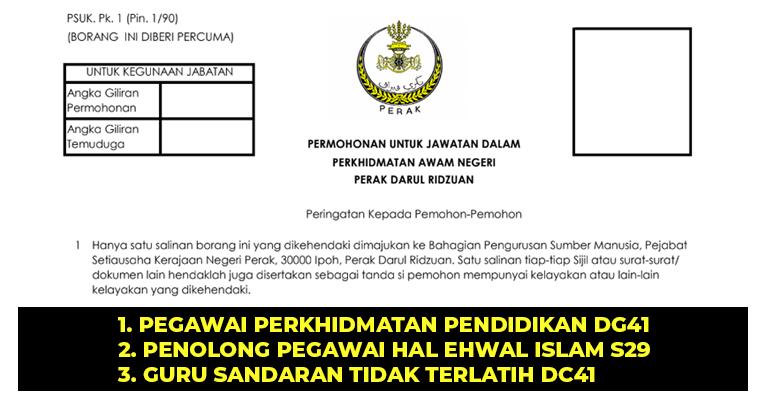 Jawatan Kosong di Kerajaan Negeri Perak - JOBCARI.COM ...