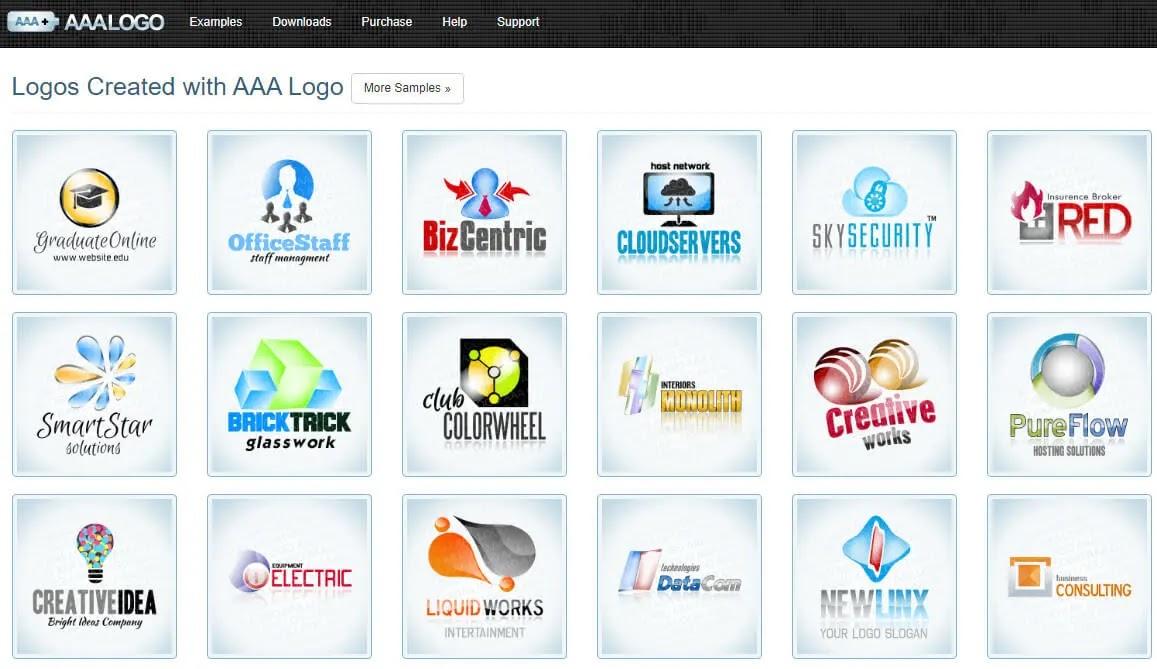 1) برامج تصميم شعارات للكمبيوتر AAA Logo
