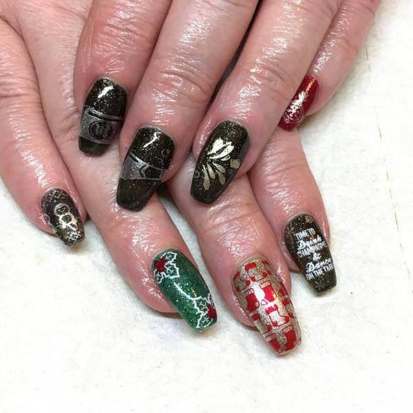 long, Reindeer Nail Art, for girls