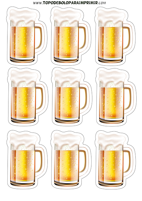 tubete cerveja para imprimir