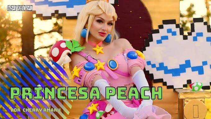 CherryAmaru con su cosplay de Peach
