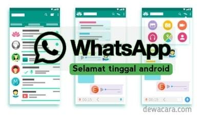 Whatsapp tidak bisa digunakan pada versi android lawas