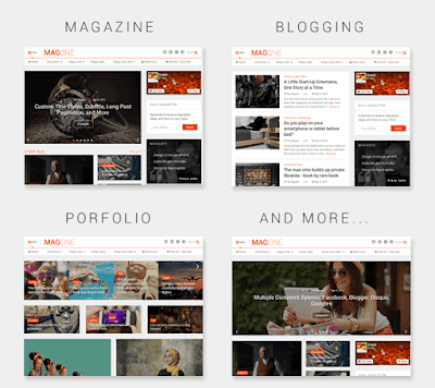 Freedownload Template Blogger MagOne Responsive - ElTheme