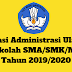Aplikasi Administrasi Ulangan Sekolah SMA/SMK/MA Tahun 2019/2020 - Ruang Lingkup Guru