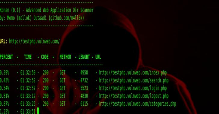 Konan – Advanced Web Application Dir Scanner