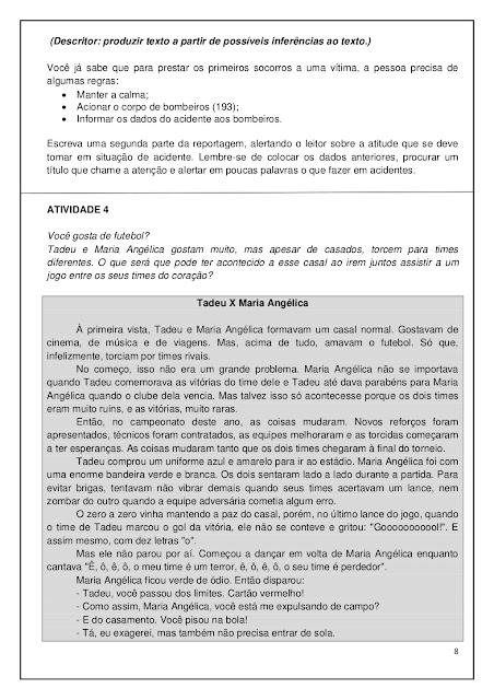 Leitura e interpretação de texto 5º ano