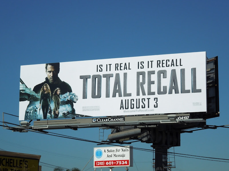 Total Recall 2012 remake movie billboard