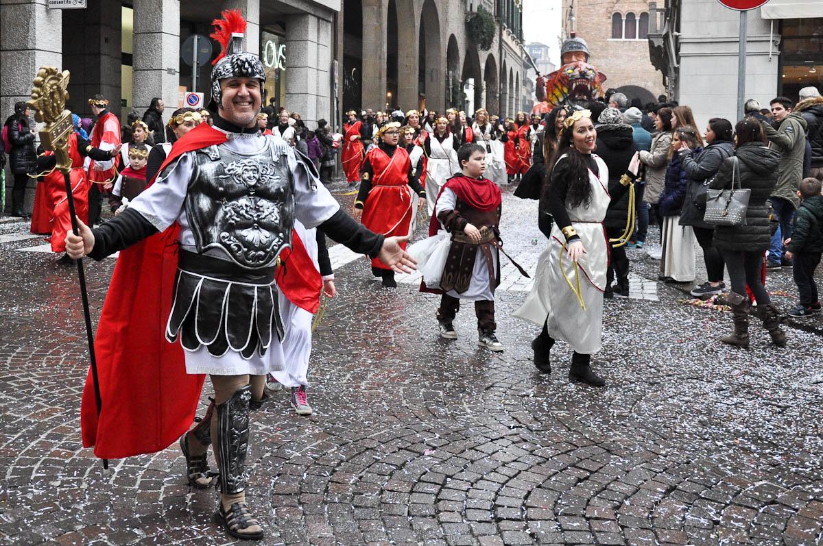 Roman gladiator, Treviso Carnival 2016, Treviso, Veneto, Italy