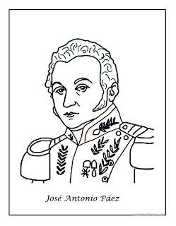 José Antonio Páez dibujo para colorear