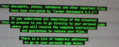 cara mengatasi Cerber Ransomware 4.1.1