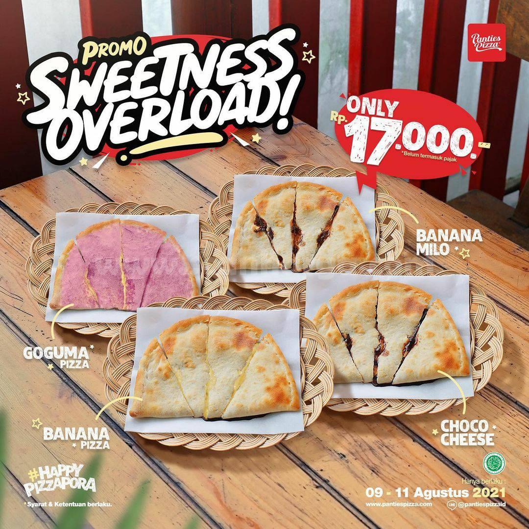 Promo Panties Pizza SWEETNESS OVERLOAD - Pizza Manis harga cuma Rp. 17.000