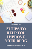 21 tips to help you improve your blog pinterest image