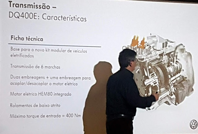 VW Golf GTE - a transmissão DQ400E e o motor elétrico