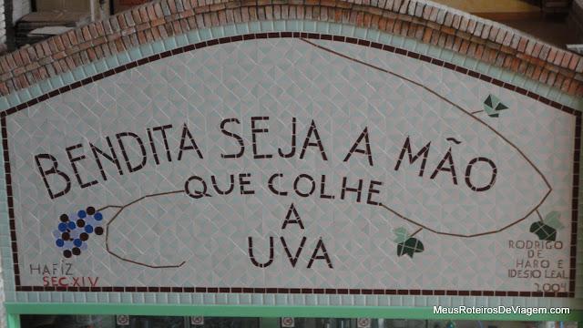 Mosaico na vinícola Villa Francioni - São Joaquim/SC