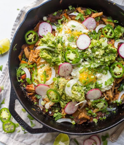 Whole30 Chilaquiles with Carnitas and Sweet Potatoes
