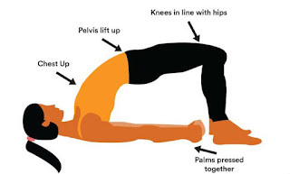 bridge pose,benefits of bridge pose,high bp yoga asana