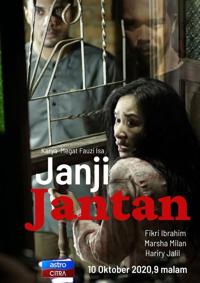 Telefilem Janji Jantan Lakonan Fikry Ibrahim dan Marsha Milan