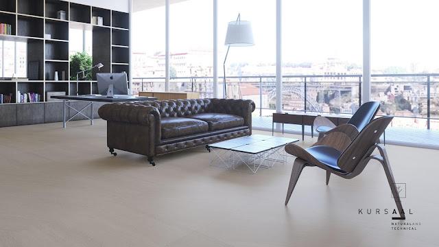 Outside floor tiles design Kursaal seriesfor open-plan offices