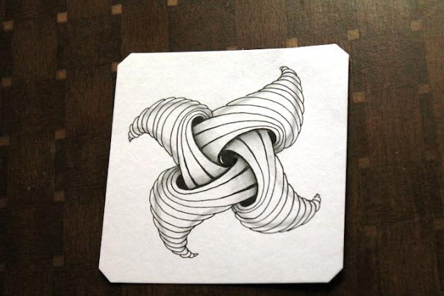 trelina zentangle shaded