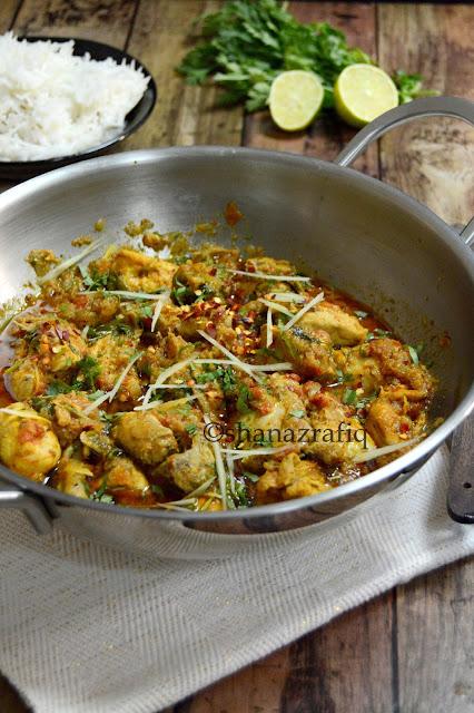 Pakistani Street Style Chicken Kadai ~Restaurant Style Kadai