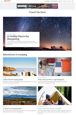 majalah online sunset magazine travel the west