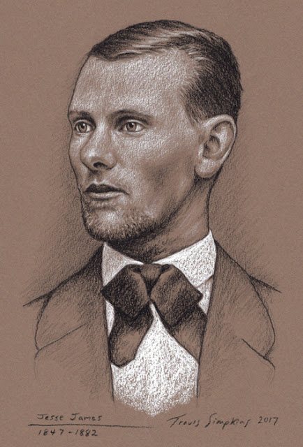 Jesse James (1847-1882). Outlaw, Bank and Train Robber. by Travis Simpkins