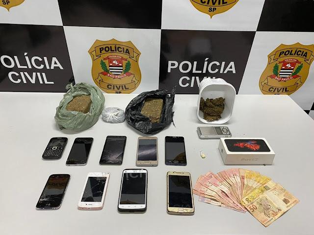 Nova fase da Operação Lockdown prende cinco adultos e apreende um adolescente envolvidos com o tráfico de drogas