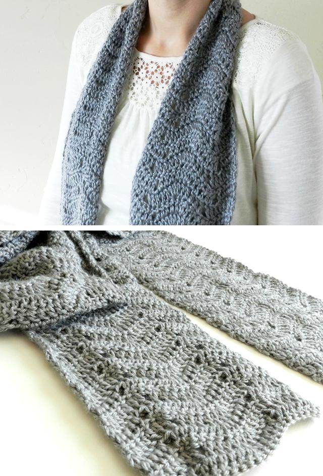Free Crochet Pattern: Chevron Scarf