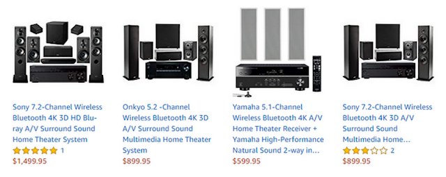 Onkyo 5.1-Channel Home Theater Receiver//Speaker Package w// Bluetooth HT-S3900