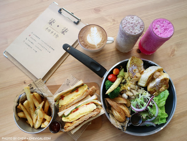 IMG 4336 - 熱血採訪│柒‧柒 手作早午餐。粉紅色販賣機風潮襲捲台中啦!來份豐盛的早午餐,讓你拍照也有粉嫩好氣色!