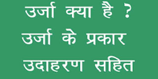 Types of Energy in Hindi