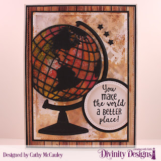 Stamp Set: Color My World  Paper Collection: Weathered Wood  Custom Dies: Globe & Stand, Pierced Rectangles, Sparkling Stars, Pierced Circles, Circles  Mixed Media Stencils: Circles