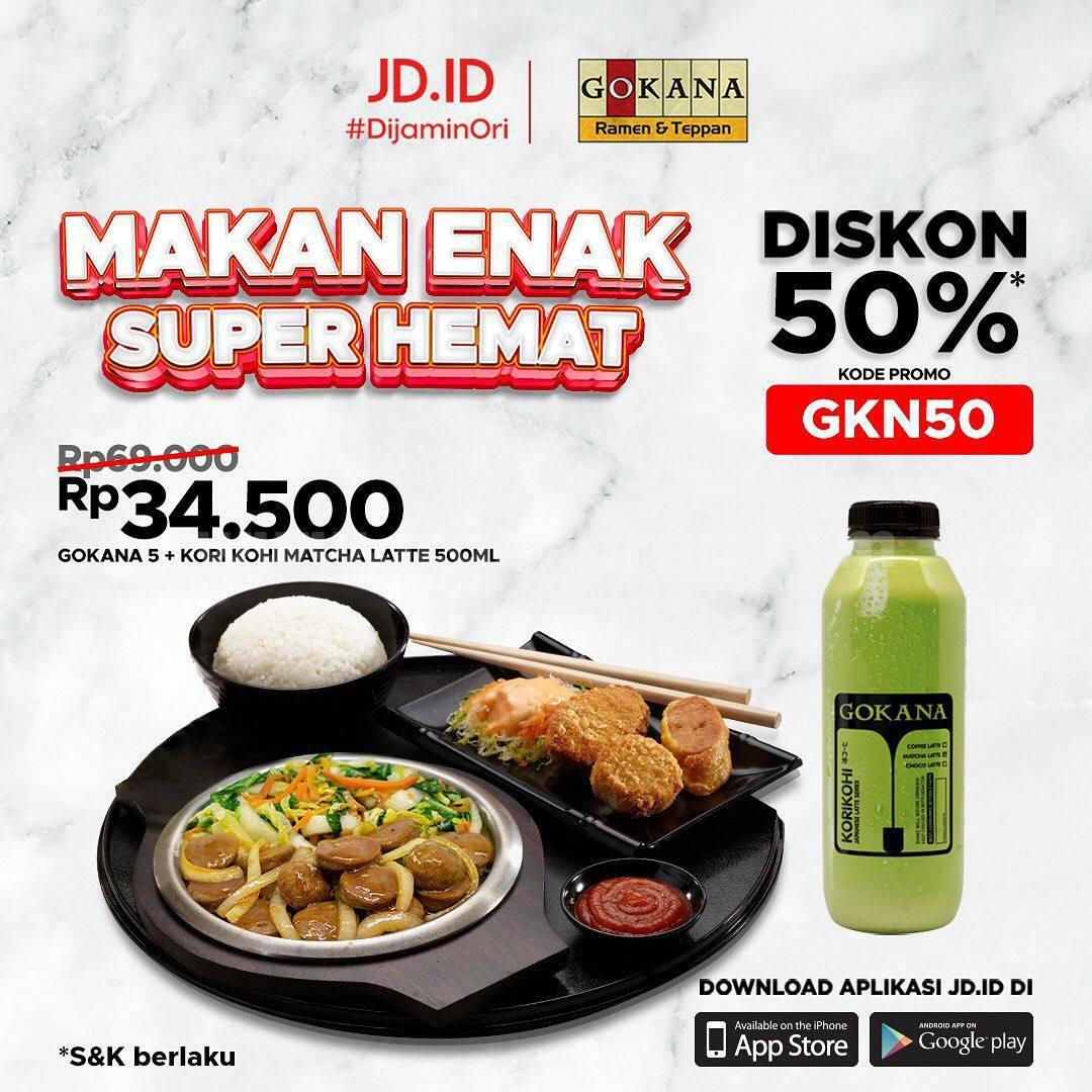 GOKANA Promo Makan Enak Super Hemat! DISKON 50% Bareng JD.ID