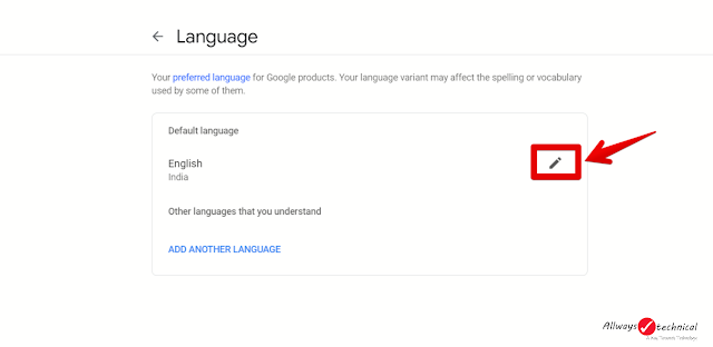 How To Change Google Language - Step 4