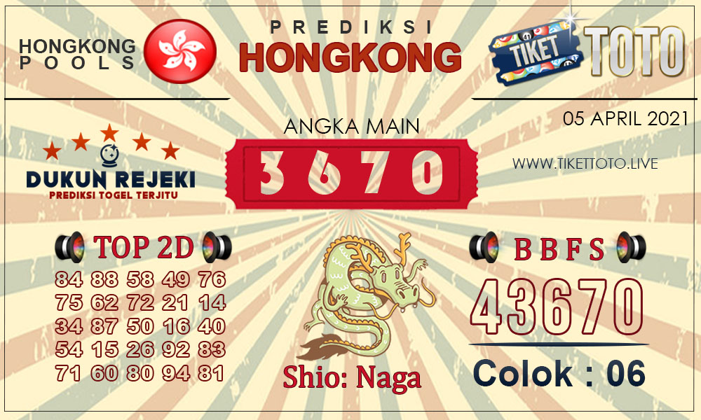 Prediksi Togel HONGKONG TIKETTOTO 05 APRIL 2021