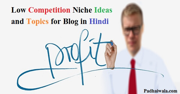 low competition niche topic for blog in hindi