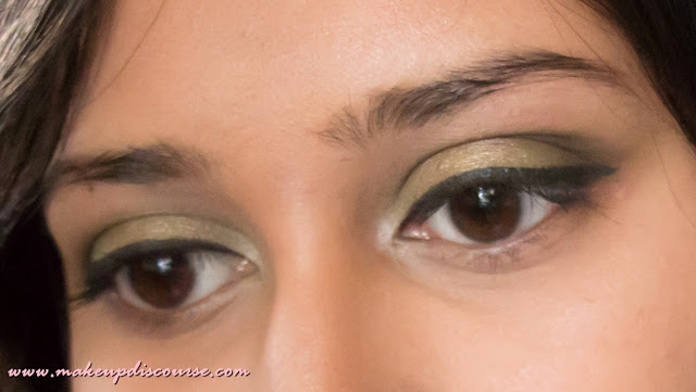 golden olive smokey eye tutorial in India, Makeup Tutorial