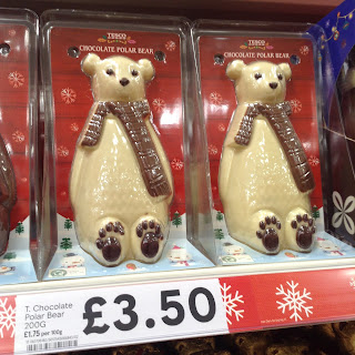 tesco chocolate polar bear