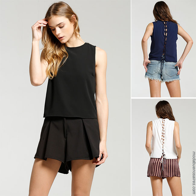 Blusas con shorts Moda verano 2018