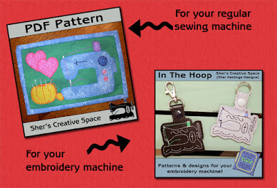 FREEBIE WEEKEND - Sewing Machine Mug Rug and Key Fob