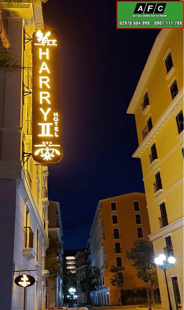 Thi công bảng hiệu Khách sạn HARRY II tại Phú Quốc