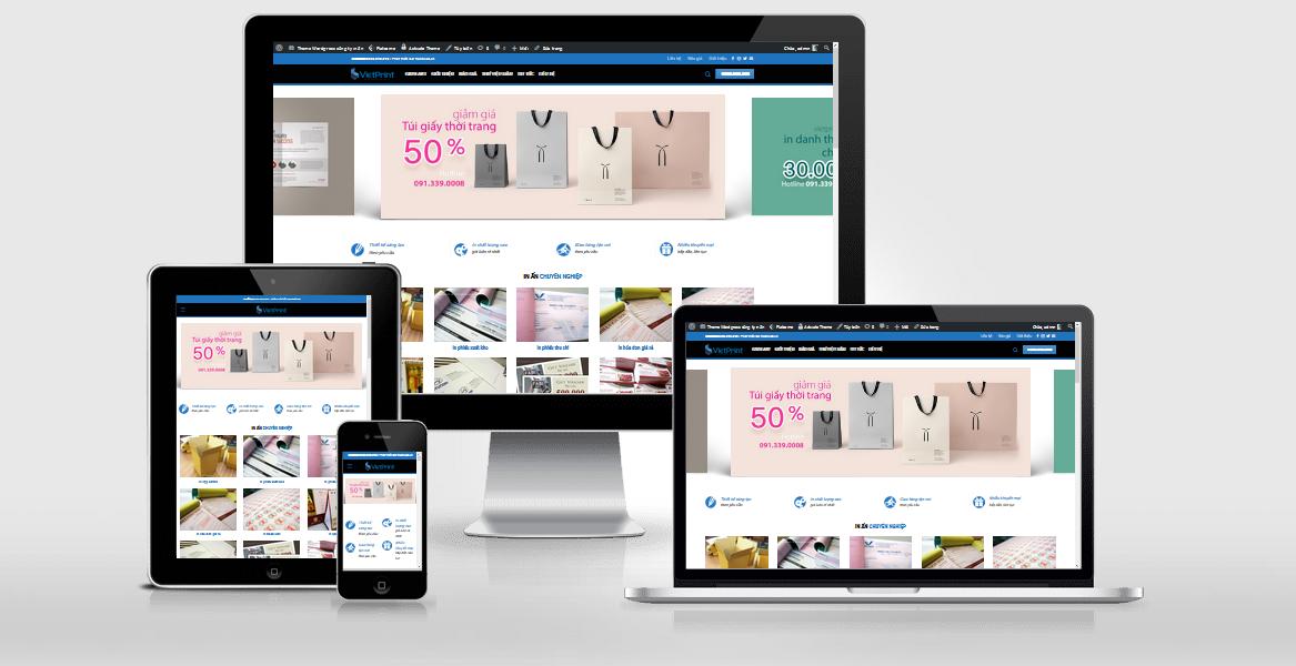 Theme WordPress dành cho công ty in ấn, thiết kế