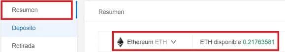 saldo ethereum