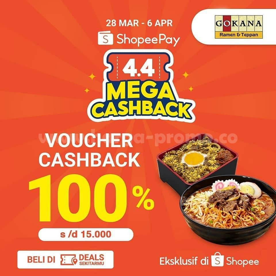 GOKANA Ramen Promo ShopeePay 4.4! Voucher Cashback 100%