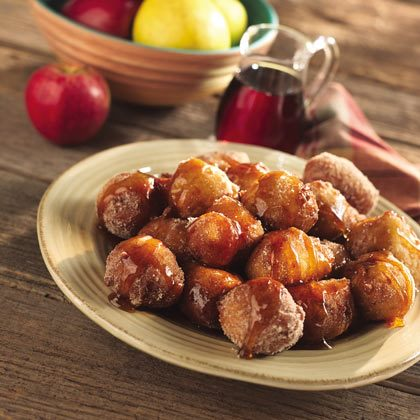 Apple Fritters with Spiced Syrup Recipe