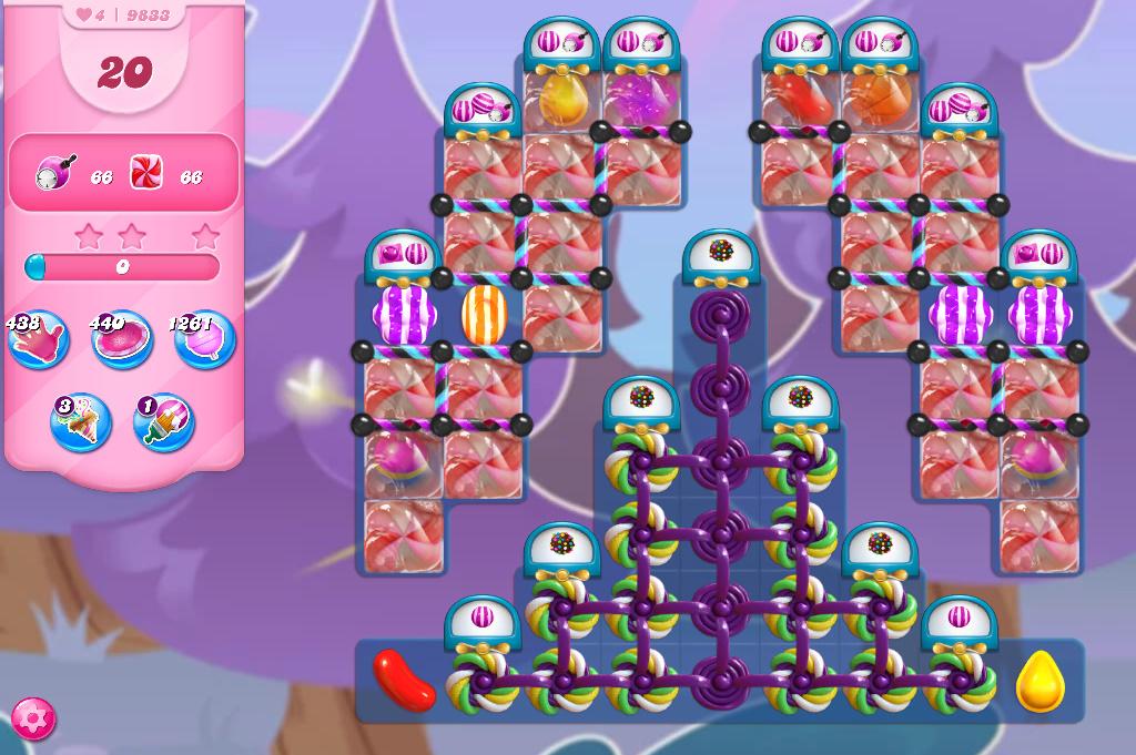 Candy Crush Saga level 9833