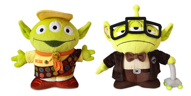Pixar Fest Alien Remix Plush Russell and Carl Fredricksen