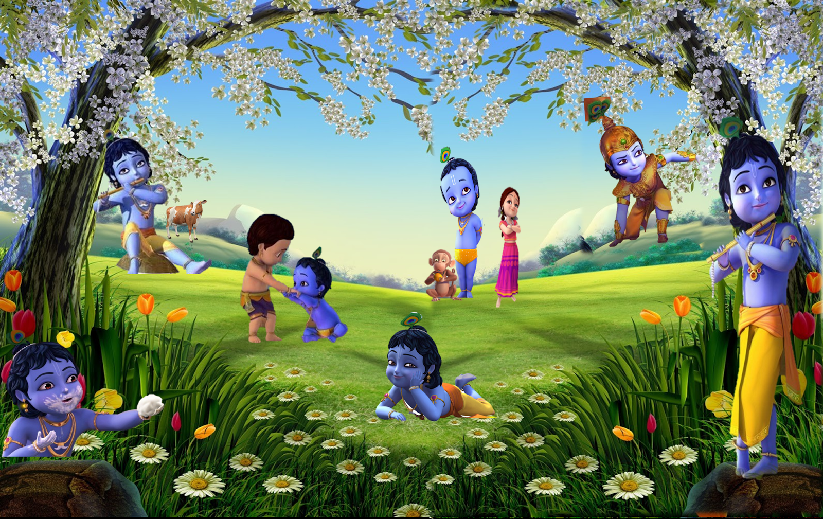 Disney+Cartoon+Little+Krishna+HD+Wallpapers6