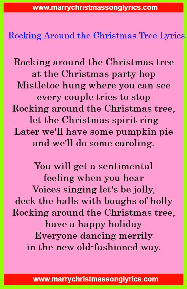Rocking Around the Christmas Tree Lyrics Image