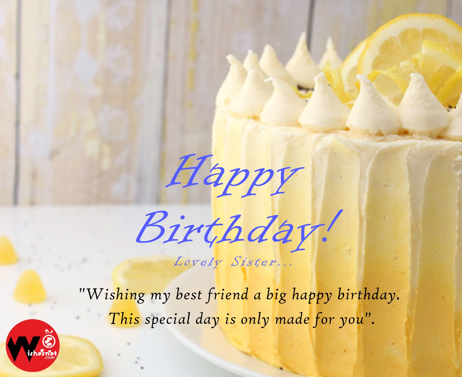 Happy Birthday Cakes For Sister Good Morning Wishes Images And